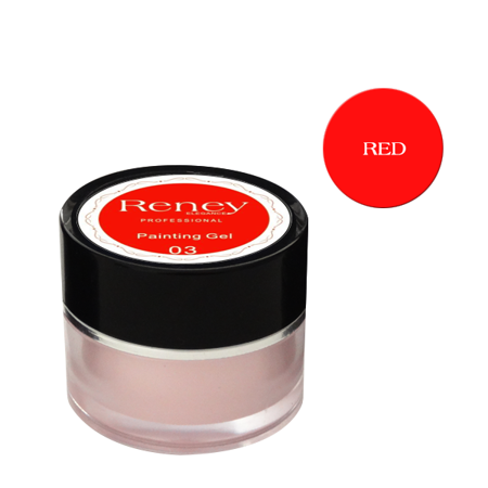 Reney Painting Gel Żel do zdobień Red no. 04 8ml