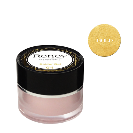 Reney Spider Gel Żel do zdobień Gold no. 04 8ml