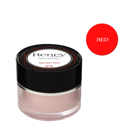Reney Spider Gel Żel do zdobień Red no. 03 8ml